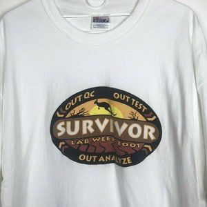 Survivor Lab Week 2001 T-Shirt 2XL Hanes Beefy-T